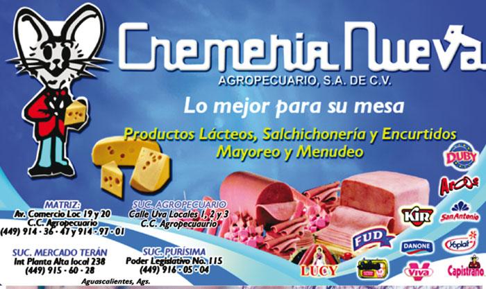CREMERIA NUEVA AGROPECUARIO SA DE CV / Sección Amarilla
