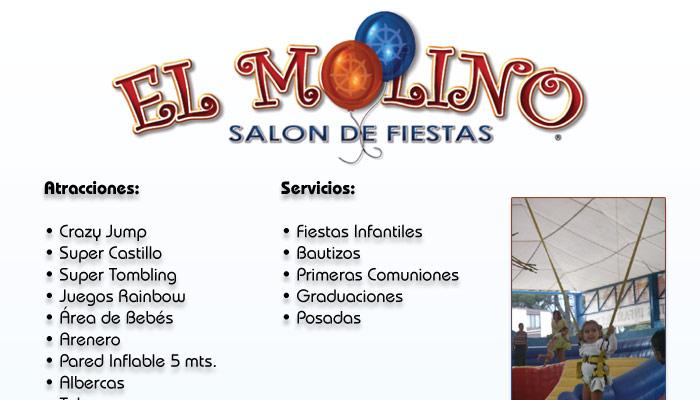 El molino salon de fiestas secci n amarilla for Abril salon de fiestas