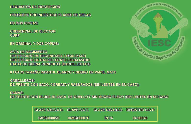 INSTITUTO DE ESTUDIOS SUPERIORES DE CAMPECHE / Sección Amarilla