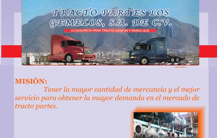 TRACTO PARTES LOS GEMELOS SA DE CV / Sección Amarilla